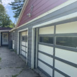 Garage doors on house for sale